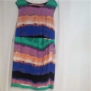 Calvin Klein Multicolor Shift Career Dress 2XL